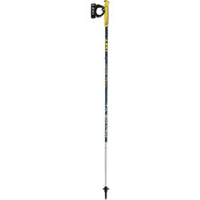 LEKI Micro Trail TA Trail Running Poles dark blue metallic/neon yellow/white